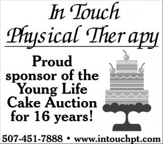 Sponsor of the Young Life Cake Auction for 16 years!