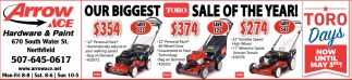 Our Biggest Toro sale of the year!