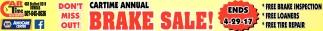 Cartime Annual Brake Sale