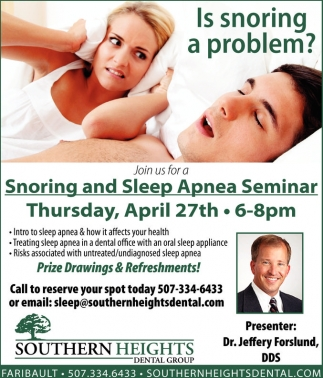 Snoring and Sleep Apnea Seminar
