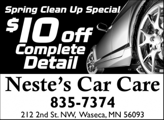Spring Clean Up Special, Neste's Car Care