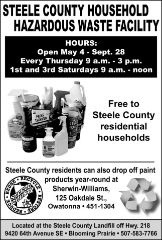Steele County Household Hazardous Waste Facility, Steele County Landfill, Blooming Prairie, MN
