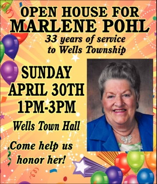 33 years of service to Wells Township