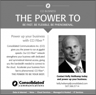 Power up your business with CCI Fiber*
