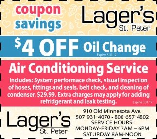 $4 OFF Oil Change, Air Conditioning Service