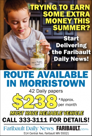 Delivering the Faribault Daily News