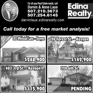 Call today for a free market analysis!