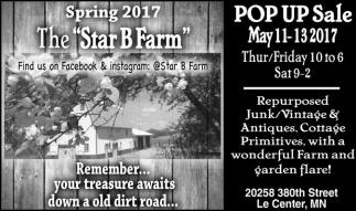Spring 2017 / POP UP Sale