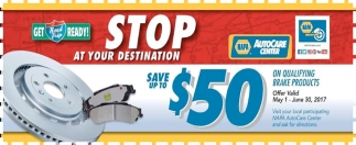 Save up to $50 on brakes