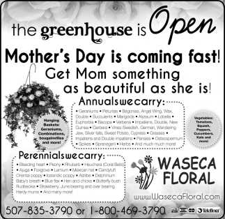 Mother's Day, Waseca Floral, Waseca, MN