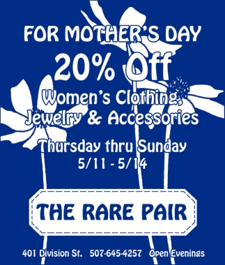 For Mother's Day 20% off