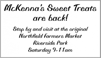 McKenna's Sweet Treats are back!