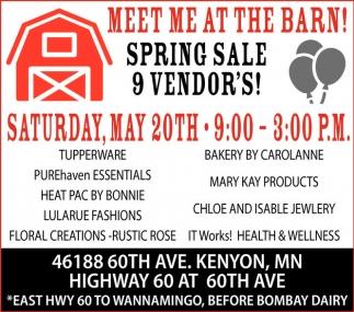 Spring Sale 9 Vendor's!