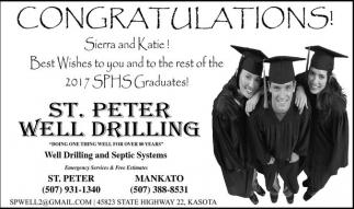 Congratulations! Sierra and Katie!