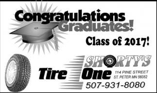 Congratulations Graduates! Class of 2017!