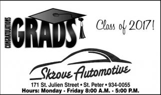 Congratulations Grads, Class of 2017!