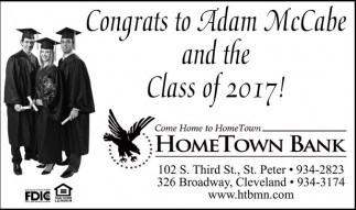 Congrats to Adam McCabe and the Class of 2017!