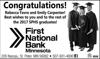 Congratulations Rebecca Favre and Emily Carpenter!