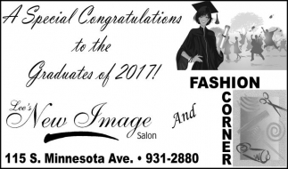 A Special Congratulations to the Graduates of 2017!
