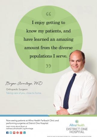 Bryan Armitage, MD Orthopedic Surgeon