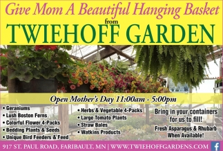 Open Mother's Day 11am - 5pm