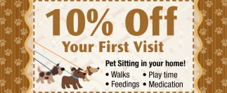 10% off your first visit, Ruff House Pet Sitting and Dog Walking