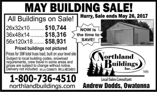 May Building Sale!