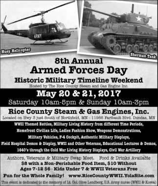 Historic Military Timeline Weekend