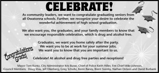 Celebrate! Congratulations Grads!