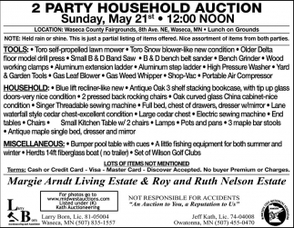 2 Party Household Auction