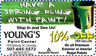 10% off per gallon on all Premium Interior Regal Classic Paint