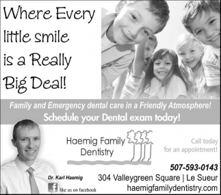 Schedule your Dental exam today!