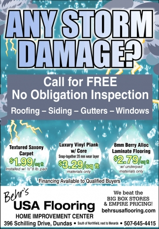 Call for FREE No Obligation Inspection