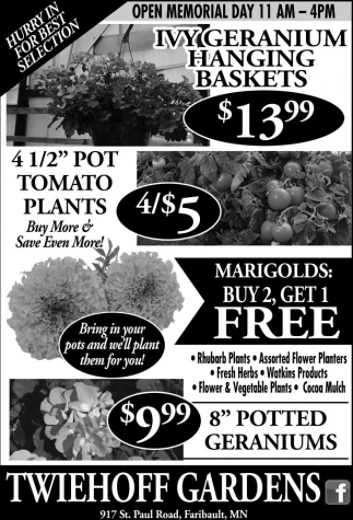 Bring in your pots and well plant them for you