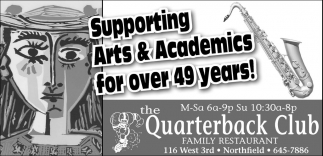 Supporting Arts & Academics for over 49 years!