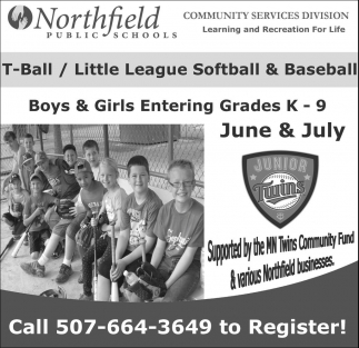 Supported by the MN Twins Community Fund & various Northfield businesses