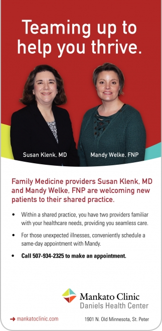 Family Medicine: Susan Klenk, MD and Mandy Welke, FNP