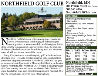 In the Heart of Historic Northfield, Northfield Golf Club, Northfield, MN