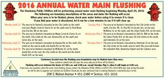 2016 ANNUAL WATER MAIN FLUSHING