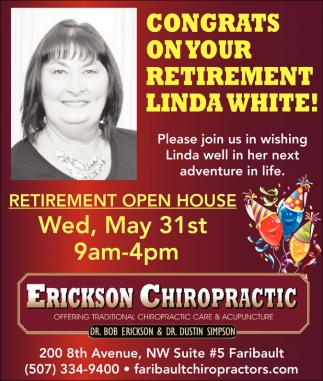 Congrats on your retirement Linda White!