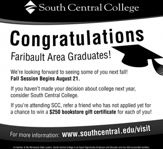 Ads For South Central College in Southern Minn