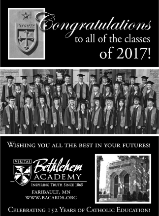 Congratulations to all of the classes of 2017!