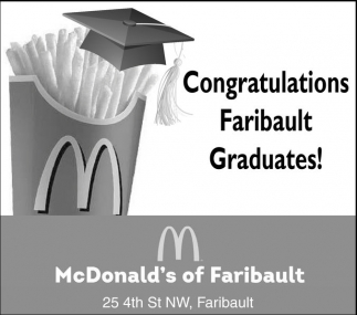 Ads For McDonald's Faribault in Southern Minn