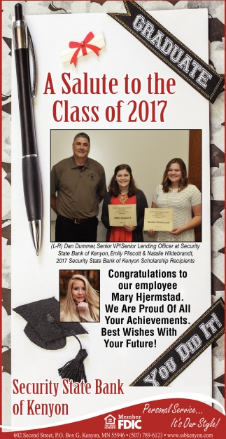A Salute to the Class of 2017!
