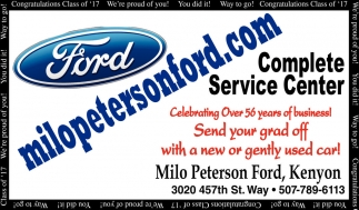 Congratulations Class of '17, Milo Peterson Ford, Kenyon, MN