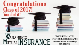 Ads For Wanamingo Mutual Insurance in Southern Minn
