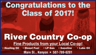 Congratulations to the Class of 2017!, River Country Co-op, Kenyon, MN