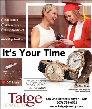 Ads For Tatge Jewelry in Southern Minn
