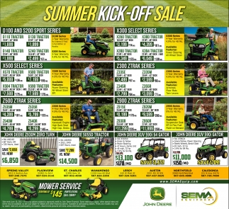 Summer Kick-Off Sale