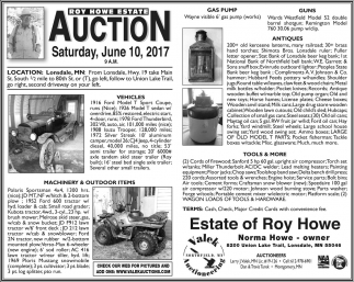 Vehicles, Machinery & Outdoors, Guns, Antiques, Tools, Valek Auctions, Northfield, MN